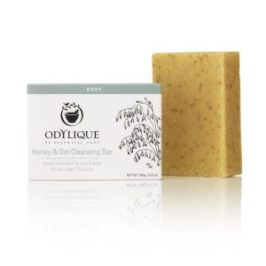 Odylique Honey & Oat Cleansing Bar 100g