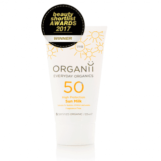 Organii Sun Milk Organic SPF 50 Clear Medical Skin Clinic