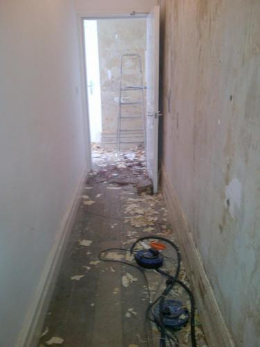 Clear Medical stripping walls