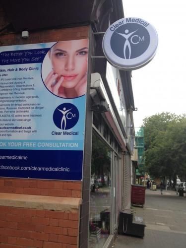 Sign outside chorlton manchester clinic